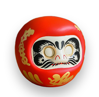 4-Inch Red Daruma (For Health, Passion & Business Boom)