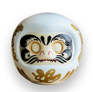4-Inch White Daruma (For Hope, Family & Happiness)