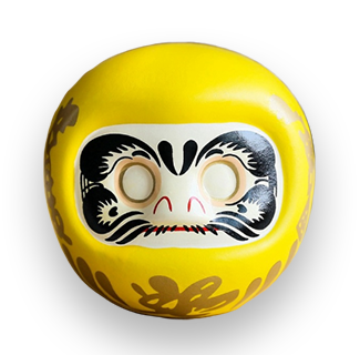 4-Inch Yellow Daruma (For Fortune. Finance & Windfall)