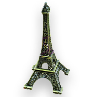Eiffel Tower 13cm Metal Decoration