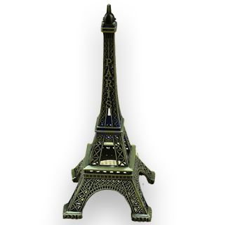 Eiffel Tower 15cm Metal Decoration