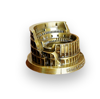 World Famous Rome Colosseum Metal Decoration