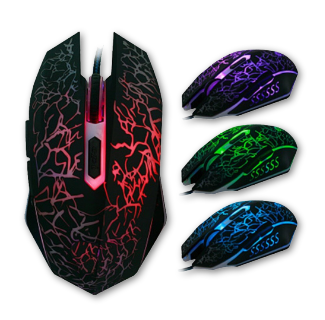 7 LED Color Changing Optical Gaming Mouse 4000DPI