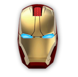 Iron Man Silent Click Wireless Mouse Adjustable DPI