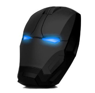 Stealth Iron Silent Click Wireless Mouse Adjustable DPI