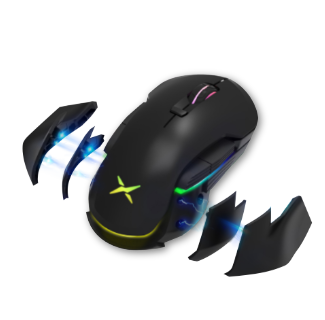 Delux M627 RGB Wireless Optical Ergonomic Gaming Mouse 16000 DPI