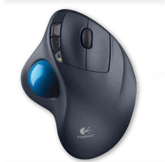 Logitech M570 Ergonomic 2.4G Wireless Laser Optical Vertical Trackball Mouse