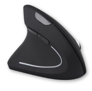 HIPERDEAL Left Handed Ergonomic Vertical 2.4G Wireless Gaming Mouse