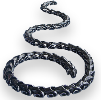 316L Stainless Steel Dragon Chain Choker Necklaces or Bracelet 40cm