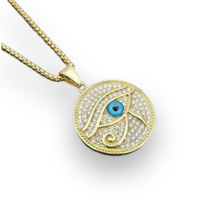 Ancient Egypt The Eye Of Horus Pendant Stainless Steel Necklace