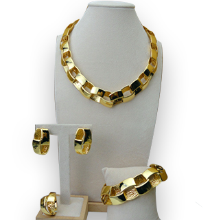 Yuminglai 24K Italian Gold Plated African Styled Accessories Set