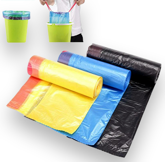 1 Roll Strong Thicken Plastic Auto Drawing Trash Bag