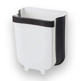 5L Wall Mounting Foldable Hanging Waste Bin (White)