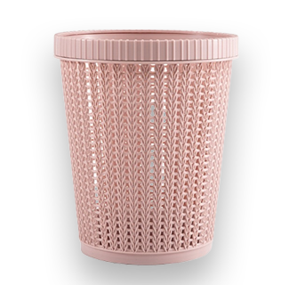 Rattan Style Trash Can (Pink)