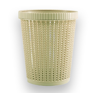 Rattan Style Trash Can (Green)