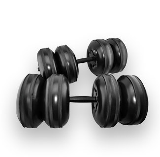 25KG Water Filled Inflatable Dumbbells
