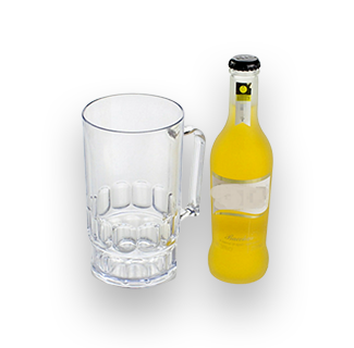 Unbreakable Manly Acrylic Plastic Beer Mug