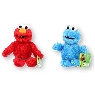 Sesame Street - Elmo & Cookie Monster 30cm Plush Toy