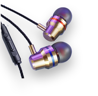 3.5mm Wired Stereo Earpiece (Gold)