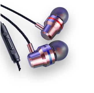3.5mm Wired Stereo Earpiece (Rose Gold)