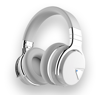 Cowin E7 ANC Wireless Bluetooth Noise Cancelling Headphones (White)