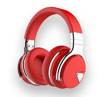 Cowin E7 ANC Wireless Bluetooth Noise Cancelling Headphones (Red)
