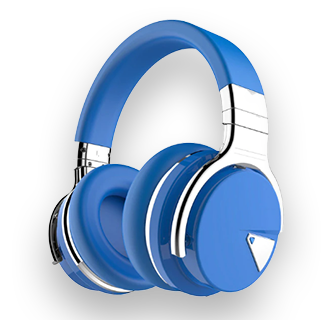 Cowin E7 ANC Wireless Bluetooth Noise Cancelling Headphones (Blue)