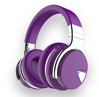 Cowin E7 ANC Wireless Bluetooth Noise Cancelling Headphones (Purple)