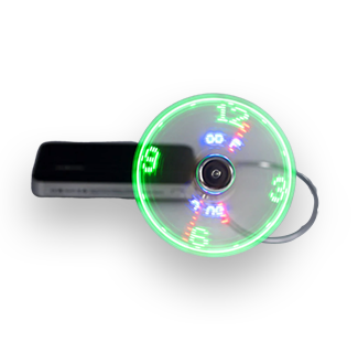 Mini USB Fan with Adjustable LED Clock