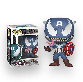 Funko Pop Venomized Captain America Action Figure