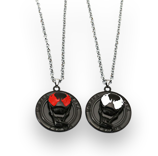 Venom Rotatable Pendant Necklace