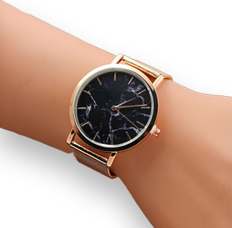 Simple Style Stainless Steel Strap Quartz Wrist Watch
