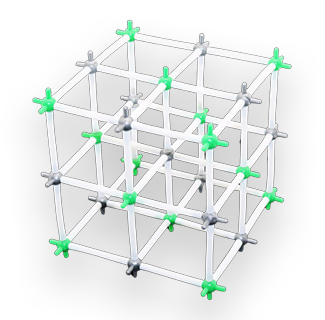 Chemistry Science - NaCl Crystal Structural Model