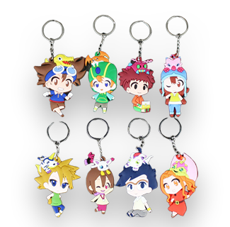 Digimon Adventures Character Keychains Set
