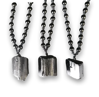 Nunatak Natural Black Tourmaline Ore Chakra Healing Gemstone Pendant Necklace 10pcs
