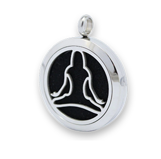 Stainless Steel Yoga Aroma Diffuser Locket Pendant 10pcs
