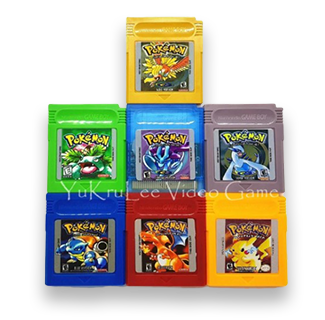 GBA Gameboy Color Game Cartridges - Pokemon Yellow, Red, Blue Green, Gold, Silver & Crystal Version