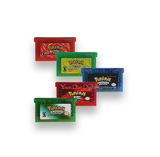 3DS/2DS Game Cartridges - Pokemon Ruby & Sapphire, Emerald, Fire Red & Leaf Green (EN)