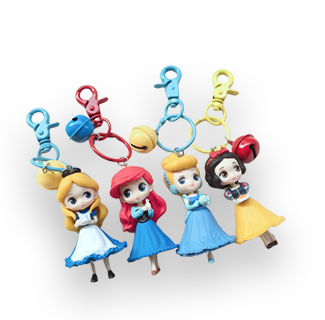 Disney Princess Mini Figure Keychains Set