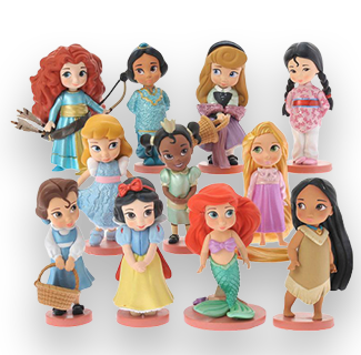 Disney 11 Kid Princesses Action Figure Collection