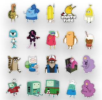 50pcs Adventure Time Cartoon Stickers