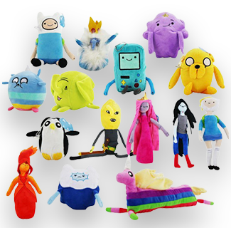 Adventure Time Cartoon Character Plush Keychain (Random)