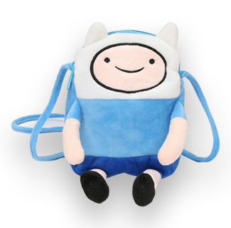 18cm Adventure Time Plush Bag - Finn