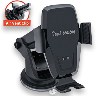 KAIHDA Windshield Dash Air Vent - Electric Clamping Car Phone Mount