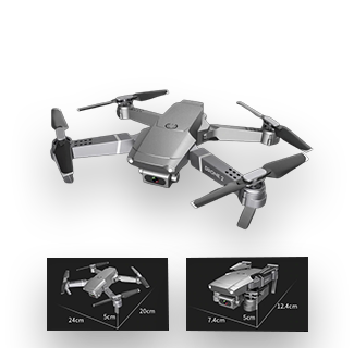 E68 WIFI HD 4K 1080P Camera RC Foldable Quadcopter Drone