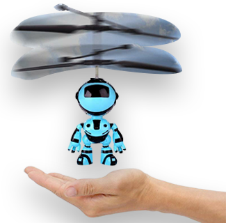 RC Hand Inductive Flying Robot