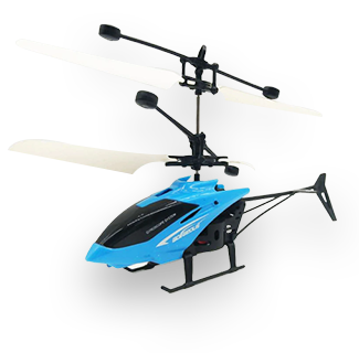 Mini RC Suspension Induction Helicopter (Blue)