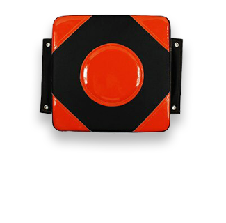 30*30*10cm PU Leather Wall Target (Red & Black)