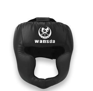 Kick Boxing Training Headguard Helmet (Black)
