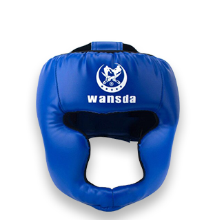 Kick Boxing Training Headguard Helmet (Blue)
